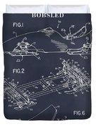 1982 Bobsled Blackboard Patent Print Duvet Cover