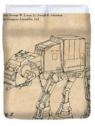 1982 Star Wars At-at Imperial Walker Antique Paper Patent Print Duvet Cover