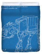 1982 Star Wars At-at Imperial Walker Blueprint Patent Print Duvet Cover