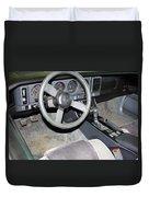 1986 Pontiac Trans Am Dashboard Duvet Cover