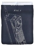 1988 Motorola Cell Phone Blackboard Patent Print Duvet Cover