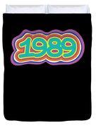 1989 Vintage Grafitti Style Word Art Classic Art Duvet Cover