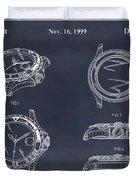 1999 Rolex Diving Watch Patent Print Blackboard Duvet Cover