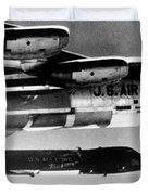 1x15 Rocket Plane Launched From The B52 Carrying It, 1962 Duvet Cover