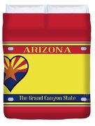 Arizona State License Plate Duvet Cover