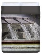 Arthur J. Will Memorial Fountain At Grand Park Duvet Cover