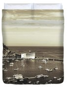Avalon Harbor - Catalina Island, California Duvet Cover