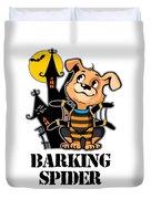 Barking Spider Halloween Design For Dog Lovers Light Duvet Cover