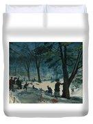 Central Park, Winter Duvet Cover