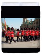 Changing Of The Guard In Ottawa Ontario Canada Duvet Cover