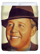 Charles Laughton, Vintage Actor Duvet Cover