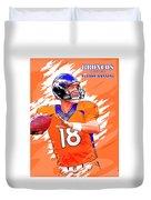 Denver Broncos.peyton Manning. Duvet Cover