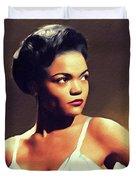 Eartha Kitt, Hollywood Legend Duvet Cover