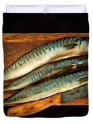Fresh Mackerels Duvet Cover