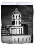 Halifax Town Clock 2017 Black  And White Duvet Cover