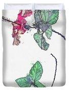 Hibiscus 2 -  Watercolor By Ahmet Asar Duvet Cover