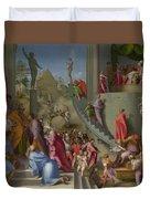 Joseph With Jacob In Egypt  Duvet Cover
