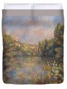 Lakeside Landscape  Duvet Cover