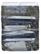 New England College Covered Bridge Duvet Cover