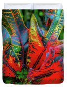 Plants And Leaves Hawaii Duvet Cover