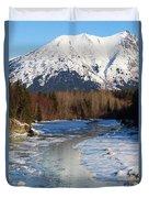 Portage Creek Portage Glacier Highway, Alaska Duvet Cover