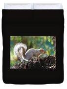 Squirrel Friend Duvet Cover
