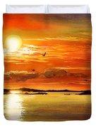 Sunset Lake Duvet Cover