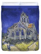 The Church In Auvers Sur Oise  View From The Chevet  Duvet Cover