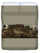 The Fight Between The Lapiths And The Centaurs  Duvet Cover