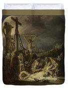 The Lamentation Over The Dead Christ  Duvet Cover