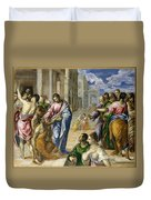 The Miracle Of Christ Healing The Blind  Duvet Cover