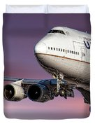 United Airlines Boeing 747-422 Duvet Cover