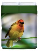 Yellow Bird Duvet Cover