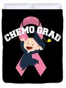 Breast Cancer Awareness Art For Warrior Women Dark Duvet Cover