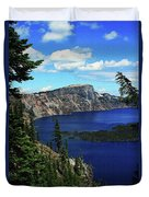 Crater Lake Oregon Duvet Cover