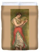 Dancing Girl With Tambourine  Duvet Cover