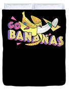 Go Bananas Good Old Times Born In The 90s Retro Rustic Duvet Cover