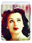 Hedy Lamarr, Vintage Movie Star Duvet Cover