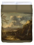 Landscape With Tobias And The Angel  Duvet Cover