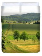 Photograph Of A Field In Germany Duvet Cover