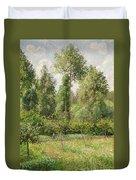 Poplars  Eragny  Duvet Cover