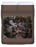 Rocks In The Forest  Duvet Cover