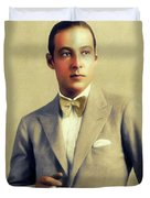 Rudolph Valentino, Vintage Actor Duvet Cover