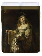 Saskia Van Uylenburgh In Arcadian Costume  Duvet Cover