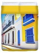 Streets Of San Juan - Puerto Rico Duvet Cover