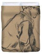 Study Of A Jockey Duvet Cover