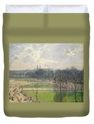 The Garden Of The Tuileries On A Winter Afternoon  Duvet Cover
