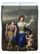 The Marquise De Seignelay And Two Of Her Sons  Duvet Cover