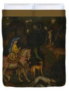 The Vision Of Saint Eustace  Duvet Cover