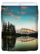 Two Jack Lake And Mount Rundle Duvet Cover